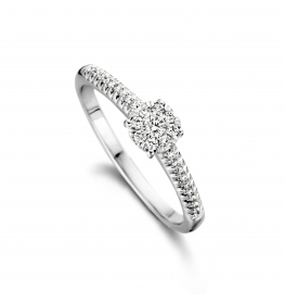 Illusion ring witgoud 18kt